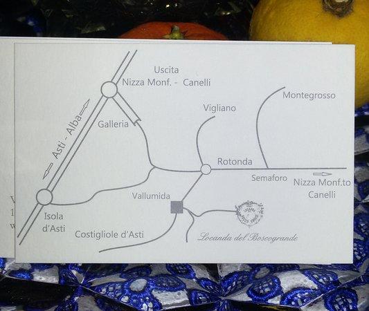 Montegrosso d'Asti, Italy: indicazioni stradali