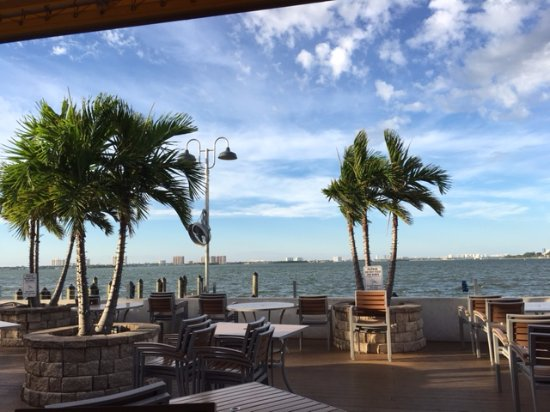 North Bay Village, FL: view from Shuckers Waterfront Bar & Grill Patio