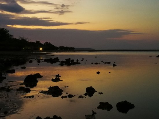 West Bali National Park, Indonesia: Sunset from the restaurant