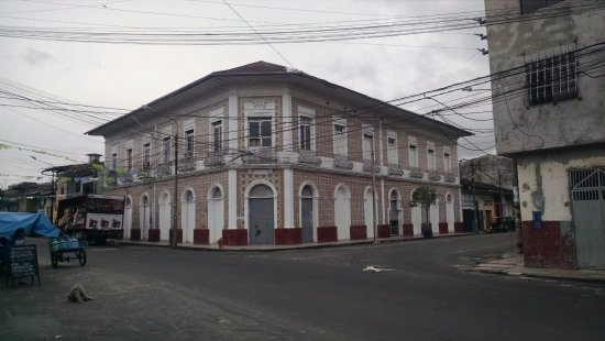 Iquitos, Peru: One of the homes built by the rubber barons about 1900.