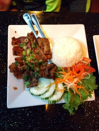 Woodbridge, VA: grilled pork with rice