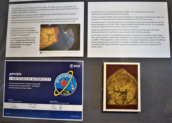 Hereford, UK: Inside the Cathedral inc the Mappa Mundi Postcard that Tim Peake too to the ISS