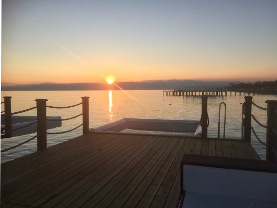 Kaya Palazzo Golf Resort: coucher du soleil du ponton