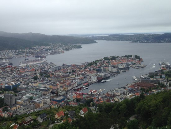 Fløibanen AS: View from the top