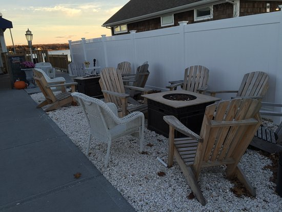 Outdoor seating, TwoTen Oyster Bar & Grill c 210 Salt Pond Rd, South Kingstown, RI