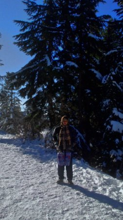 North Vancouver, Canada: My wife at Grouse Mountain