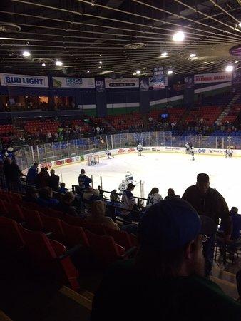 Utica, NY: View looking toward home team goal