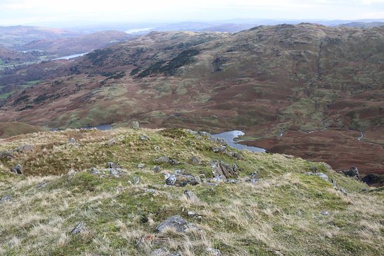 Easedale Tarn: View down from Tarn Crag