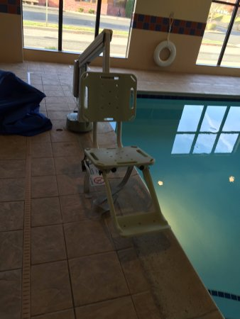 Amazing! A lift for the pool, so nice to see Hampton Inn & Suites New Haven - South - West Haven