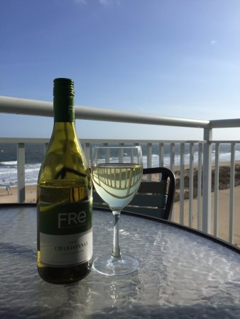 Chardonnay and a view of the Atlantic, Hilton Suites Ocean City Oceanfront  3200 North Baltimore
