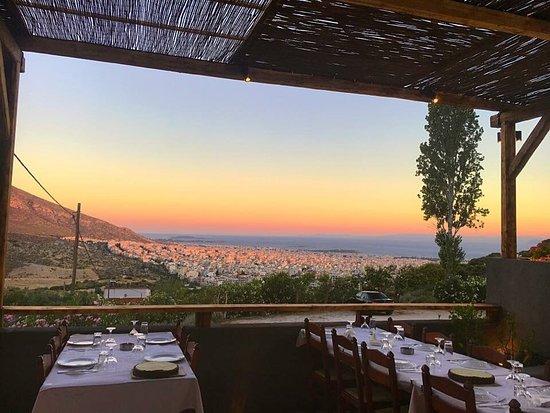 Glyfada, Grækenland: Sunset view..