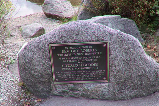 Old Man of the Mountain Profile Plaza: Another plaque