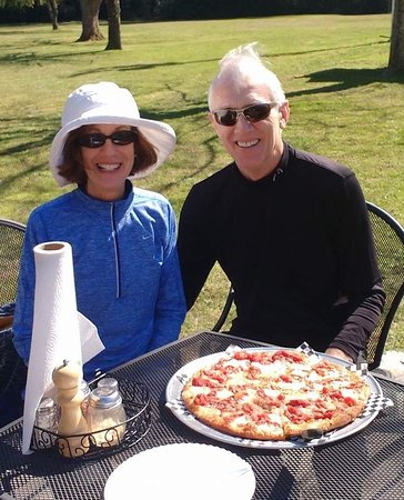 Lenoir, NC: Enjoy a fresh pizza out on our patio by the creek!