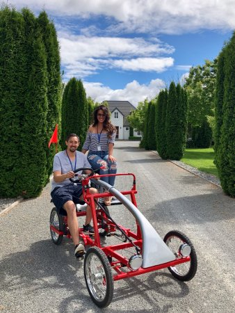 Blenheim, New Zealand: No better transportation through wine country in NZ than this fabulous roadster