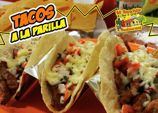 Tacos a la parilla   Mi Ranchito Bar and Grill - Jacksonville NC