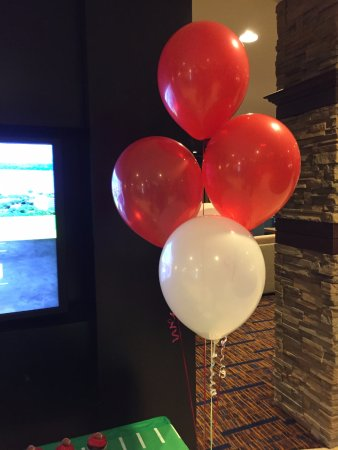 Middleton, WI: Lobby welcome for Badge football weekend!