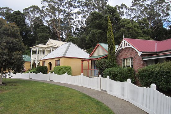 Strahan Village: Behind the picket fence