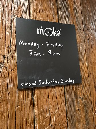 Cafe Moka Regent University Hours