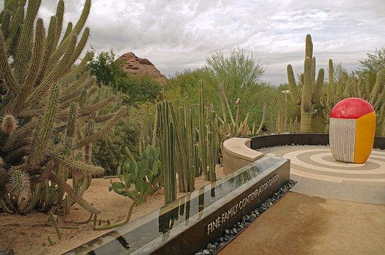 The Fine Family Contemplative Garden Includes A Jun Kaneko Sculpture Picture Of Desert