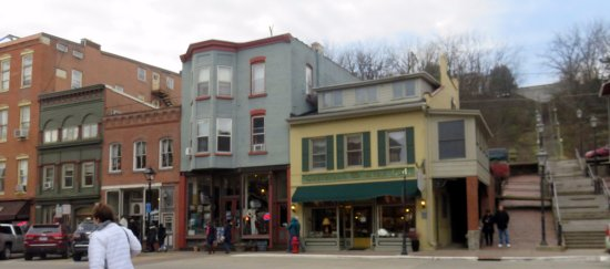 Galena, IL: Gustafson & Grey and some surrounding stores on Main St.