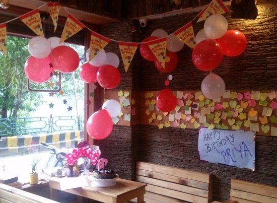 a birthday celebration picture of simz cafe nainital tripadvisor