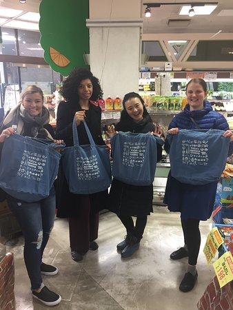 Arakawa, Japan: Everyone got YUCa's original and limited tote bag!