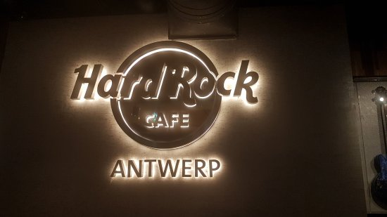 Hard Rock Cafe Antwerp: insegna
