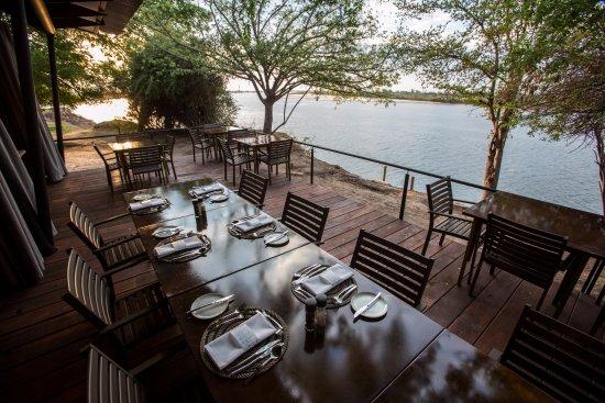 Katima Mulilo, Namibia: Veranda of the restaurant
