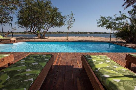 Katima Mulilo, Namibia: Pool with a view