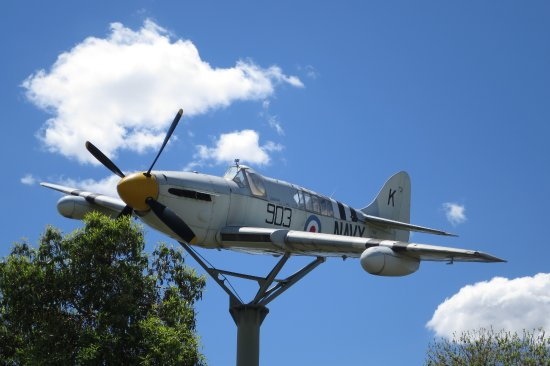 Griffith, Australia: Fairey Firefly. Not visible - the spinning propeller.