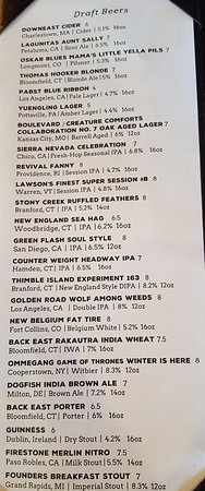 West Hartford, CT: Beer Menu
