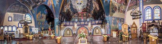 Hajnowka, Poland: Panorama wnętrza cerkwi