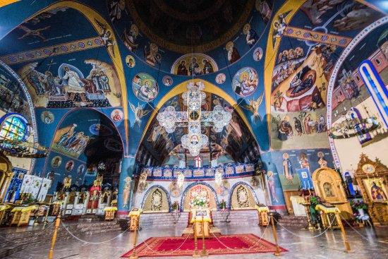 Hajnowka, Poland: Ikonostas z krzyżem