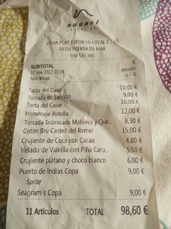Premia de Mar, Spanien: Media torta casar - 10€
