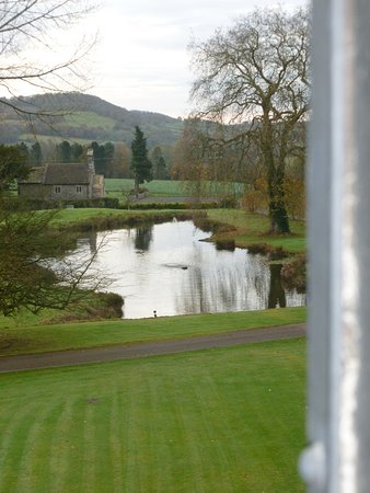 Abergavenny, UK: overlooking the lake and local church