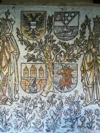 Monasterio de San Juan: Parte de su extraordinario mosáico