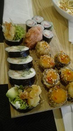 Konin, Polen: zestaw sushi