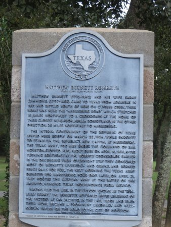 Cypress, TX: Historical Marker at Telge Park