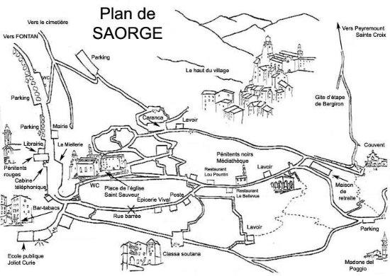 Saorge, Francia: Accès pédestre 15mn du village