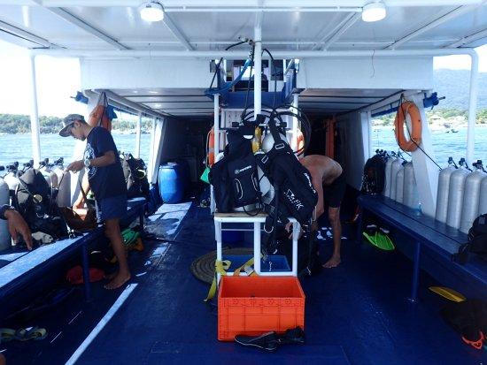 Ko Lipe, Tailândia: Dive deck