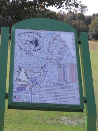 Cypress, เท็กซัส: Disc Golf Course Map at Bud Hadfield Park