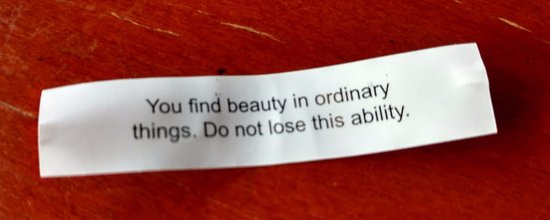 Creve Coeur, Миссури: fortune cookie at end of the meal