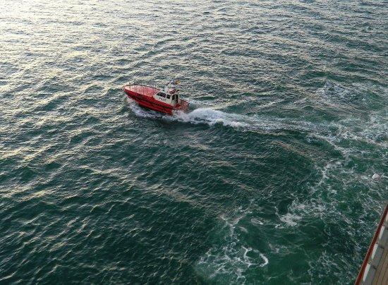 Puerto de Valencia: Il pilota alla partenza