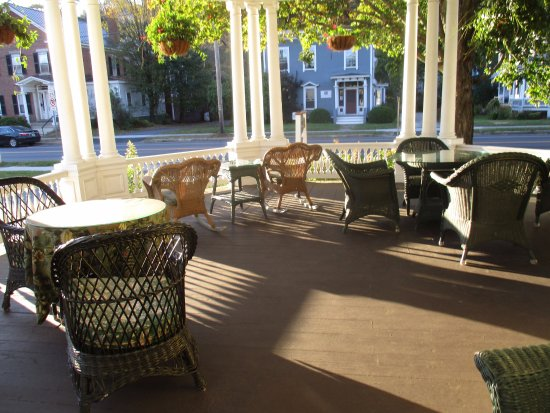 The Inn at Montpelier: The porch