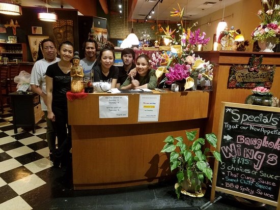 Parma, OH: Our crew!  We look forward to welcoming you to Charm Thai Restaurant.