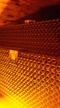 Epernay, Francia: tante bottiglie !