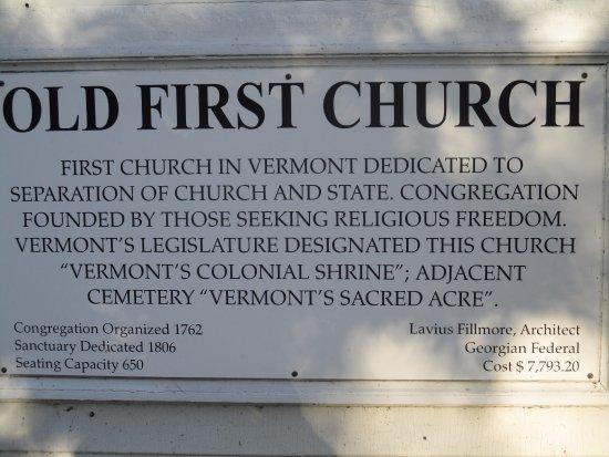 Bennington, VT: Historical descriptin