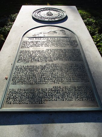 Bennington, Βερμόντ: Plaque commemorating Vermont being admitted as 14th state of the USA