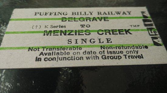 Belgrave, Αυστραλία: ticket