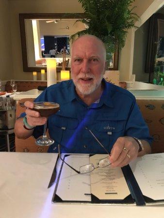 Maritana Grille at The Don CeSar: David enjoying his Black Buffalo Cocktail